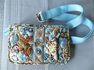 Vera Bradley Bali Blue Waist Travel Fanny Pack Belt Purse