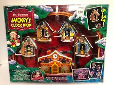 Mr. Christmas Mickey's Clock Shop 1993 Working w Original Box See Details READ