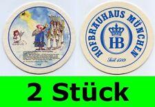 2 Stück Bierdeckel  Hofbräuhaus München - Ein Münchner im Himmel Nr. 28 Aloisius