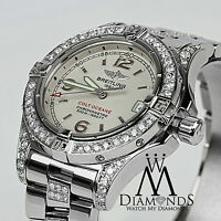 Ladies Breitling Colt Oceane Quartz Stainless Steel Diamond Watch A77380