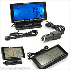 Car Electronic Digital Compass w/ Clock Thermometer Calendar Travel Guide Device
