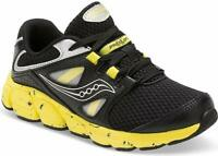 Saucony Kotaro 4 Sneaker  Black/Yellow Size 1 M US Little Kid Boys Shoe