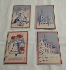 Lot Of 4 Unused Vintage Bicentennial Greeting Cards The Spirit Of 76 Made In USA