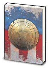 CAPTAIN AMERICA- METAL SHIELD- PREMIUM JOURNAL NOTEBOOK COMICS SUPERHERO MARVEL!