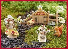 Fairy Garden Miniature Friendship 4 pc. Gift Boxed Figurine Set Dollhouse 307