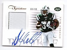 Stephen Hill NFL 2012 Prime Signatures Rookie primer chorros de firma material ()