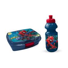 Spiderman Marvel Spinne Brotdose Lunchbox Trinkflasche Sportflasche Set 2 teilig