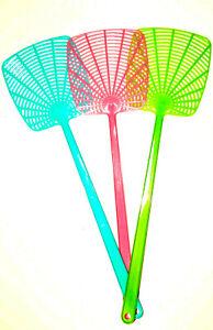 3x Fliegenklatsche Fliegenfänger Insektenvernichter Fly Swatter Klatsche 45 cm