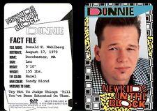 New Kids On The Block Donnie Wahlberg Fan Club Card Concert Osb Nkotb Photo 1990