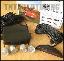 Storno 4 Sensore di Parcheggio sistema-Grigio / Argento-display LED-PARK ASSIST RETROMARCIA CICALINO ALLARME