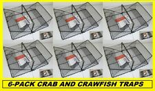 6 CRAB CRAWFISH TRAPS Folding Trap! BRAND NEW! #TR101
