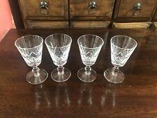 Set Of Four Vintage Stuart Crystal Sherry Glasses