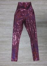 NWT American Apparel Women's High Waist Leggings PInk Sparkle Size X-SMALL
