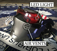 Overwatch Soldier 76 15 AIR VENTS LED luminous mask game cosplay halloween gift