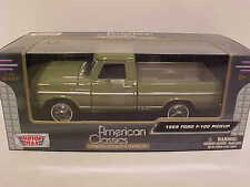 1969 Ford F-100 Pickup Truck Die-cast 1:24 Motormax 8 inches Asparagus Green