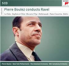 PIERRE BOULEZ CONDUCTS RAVEL [SONY CLASSICAL] 5 CD Box Set