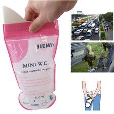 10X Portable Unisex Urine Bag Emergency Travel Car Urinal Mini Toilet Disposable