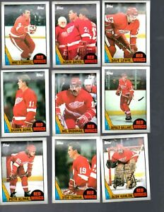 1987-88 TOPPS DETROIT RED WINGS TEAM SET  (12 CARDS)