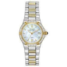 Citizen Eco-Drive Women's EW0894-57D Riva Diamond Accents Two-Tone 26mm Watch