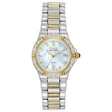 Citizen Eco-Drive Women's Riva Diamond Accents Two-Tone 26mm Watch EW0894-57D