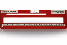 Royal Mail PPI Letter Size Guide Ruler Post Office Postal Postage in Red.
