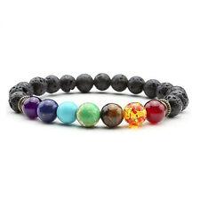 7 CHAKRA HEALING Balance Lava Meditation AROMATHERAPY Bracelet Unisex USA SELLER