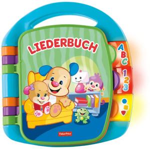 Fisher-Price CDH40 - Lernspaß Liederbuch Baby Spielzeug - Lernen von Buchstaben