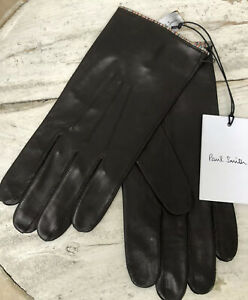Designer Paul Smith Brown Soft Calf Leather Gloves BNWT RRP £140 Made Italy