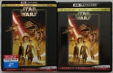 STAR WARS EPISODE VII THE FORCE AWAKENS 4K ULTRA HD BLU RAY 3 DISC + SLIPCOVER