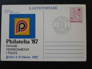Philatelia 1987 exhibition card Albania 73162