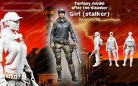 1/35 Scale Resin Figure Model Kit Sexy Girl Stalker Standing Modern Unpainted