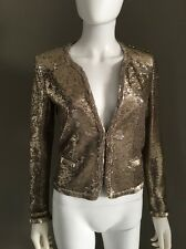 Maje Jacket Sequins Gold  36( French Size)