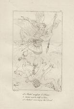 1805 Raffaello incisione in acciaio San Michele