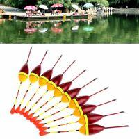 10pcs Carp Fishing Floats Set Bobber Buoy Stick For Fish Tackle Vertical 2# 4.5g
