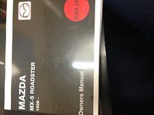 Mazda Mx5 Owners Handbook Manual Mx-5