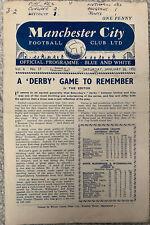 More details for manchester city reserves v liverpool reserves 1951/52