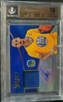 2013-14 Panini Select Basketball Stephen Curry Patch Auto /20 BGS 10 RARE