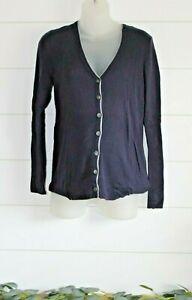 XL GAP Navy Blue Button Up V-Neck Sweater Cotton/Wool blend