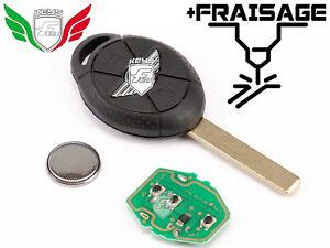CLE TELECOMMANDE POUR MINI COOPER ONE R50 R52 R53 433MHZ 66126931748 + FRAISAGE