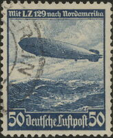 Stamp Germany Mi 606 Sc C57 1936 Reich Airship Airmail Hindenburg Zeppelin Used