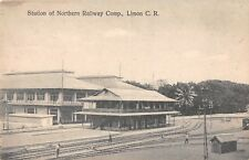 LIMON, COSTA RICA, NORTHERN RAILWAY COMPANY DEPOT OVERVIEW c 1904-14