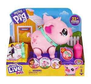 Little Live Pets MY PET PIG PIGGLY She Walks, Eats, Nuzzles Piggy IN HAND NEW