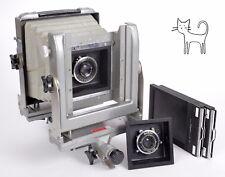 Calumet CC402 4X5 Wide angle mono rail camera + 90mm + 135mm lenses + holders