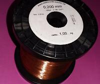 100 Meter Kupferlackdraht 0,20mm Grad 1 dünne Lackschicht Audio Weichen etc. NOS