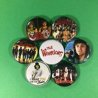 "The Warriors 1"" Button Pin Set Action Cult Classic Movie Book"