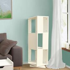 Rotating Corner Bookshelf 3 Cube Bookcase Shelves Book Shelf Unit Storage White
