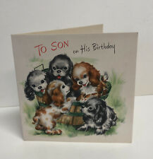 """#29 Vintage Greeting Card """"To Son On His Birthday"""""""