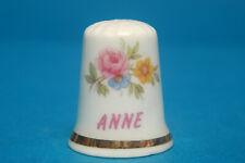 Girl's Name 'Anne' China Thimble B/93