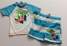NWT Mick Mack Baby Boy Bath Suit Set 2 PC 24 Months UPF 50+ Eat Sleep Surf
