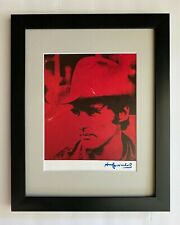 ANDY WARHOL ORIGINAL 1984 SIGNED DENNIS HOPPER PRINT MATTED TO BE FRAMED AT11X14